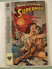 DC Comic Book The Death Of Superman 1993 Red Yellow Title Canada 1st Printing
