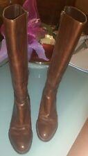 Stivali donna 35 pelle marrone tacco