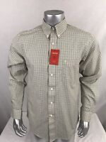 Izod Luxury Sport Long Sleeve Blue Yellow Plaid Check Shirt Men's Sz Small NWT
