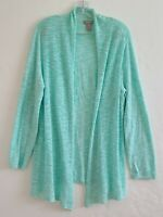 Chico's open cardigan sweater Teal Color Size 2