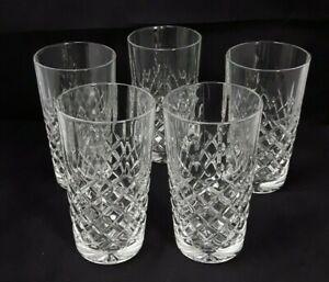 5x Cristal D'Arques Dauphine Lead Crystal 13.5cm High Ball Glasses - Vintage
