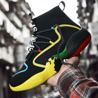 Men's Fashion Running Sneakers Lightweight Sports High Top Outdoor Tennis Shoes