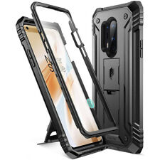 OnePlus 8 Pro Case [w/Kick-stand] Poetic Dual Layer Shockproof Cover Black