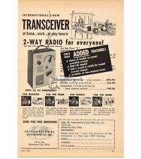 1959 International Crystal Citizen Bander Transceiver CB Radio Ham Vtg Print Ad