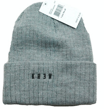 KREW VENTURA CUFFED RIBBED KNIT WINTER HAT / BEANIE / TOQUE - GRAY