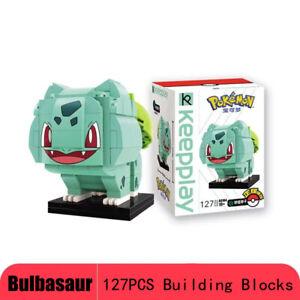 127PCS Pokemon Monster Bulbasaur Building Blocks Construx Figure Toys Kids Gift