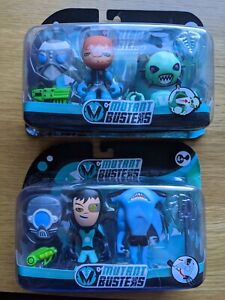 """2 x Mutant Busters Shooter & Sharco, Sheriff & Cracon double pack 3"""" Figures"""