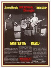 Jerry Garcia Bob Weir  *BIG POSTER* Mesa Boogie Amps 70's Promo Ad GRATEFUL DEAD