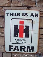 International Harvester Service Farm Sign Tractor Seed Feed Gas Oil Barn 12 x 16