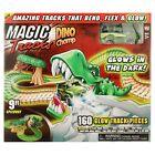 Ontel Magic Tracks Dino Chomp Glow in The Dark Racetrack Set with 9 Feet of Spee
