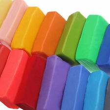 32x Colorful Soft Polymer Plasticine Fimo Effect Clay Blocks DIY Educational #P