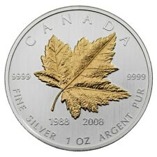 $5 2008 Silver Maple Leaf 20th Anniversary - Pure Silver Coin Canada