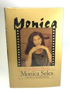 """Monica Seles Signed Book """"Monica, From Fear to Victory"""" Auto with B&E Hologram"""