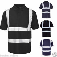 High Visibility Hi Vis Viz Reflective Tape Security Work Safety Top Shirts New