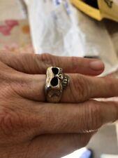 johnny depp skull ring jim skull anello unisex argento misura diametro int.mm 20