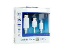6FT Micro USB MHL to HDMI HDTV Cable Adapter for Android Smart Phone USB White