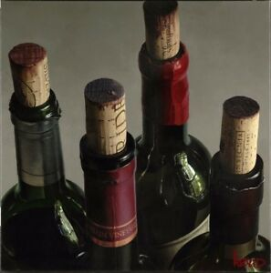 """Thomas Arvid """"With Pride"""" Wine Art Signed & Numbered Canvas - 31""""H x 31""""W NEW"""