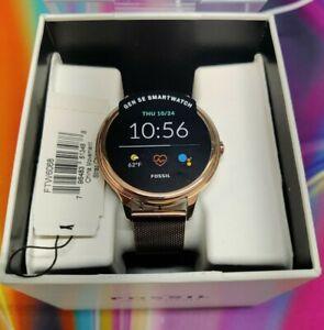 Womens Smartwatch FOSSIL FTW6068 Stainless Steel Mesh Gold Rose GEN 5E
