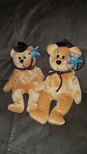 "John Wayne Bear ""The Dukester"" - Classic Collecticritters Lot of 2 plush bears"