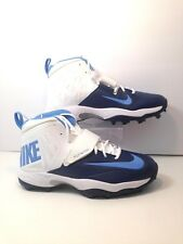 Nike Flywire Men's Lineman 3/4 TD Football Cleats Size 14 White Blue 618167-131