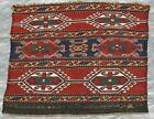Antique 1880 Soumak Tribal Bag Face Caucasian Hand Made Wool Rug 20  x 21  inch