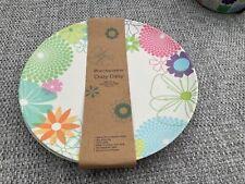 More details for crazy daisy portmeirion 4 salad plates 20cm / 8in bamboo fibre new