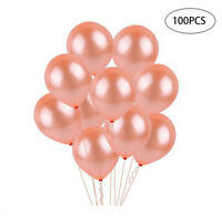 100pcs Balloons 10 Inch Rose Gold Confetti Balloons Birthday Party Decorations