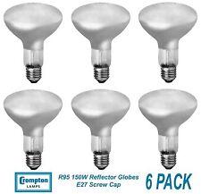 6 x 150W Halogen R95 Reflector Downlight Light Globes / Bulbs Screw E27 Dimmable