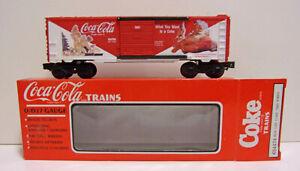 Vintage O Gauge 3-Rail K-Line K 644704 Coca-Cola 1993 Holiday Christmas Box Car