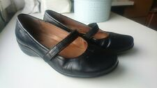 Hotter Black Patent Leather Flat Shoes UK 5.5