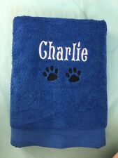 Personalised Embroidered Pet Towels Unique with Pets Name