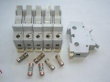 Lot de 6 coupe-circuits unipolaires HAGER 250V 10A pour cartouches 8,5 x 23mm