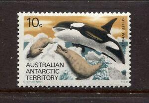 AUSTRALIAN ANTARCTIC TERRITORY 1973, KILLER WHALE HUNTING SEALS, Scott L28, MNH