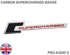 CARBON RED SUPERCHARGED CAR BADGE - CHROME - CAR VAN  UNIVERSAL UK POST