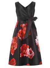 Dorothy Perkins Luxe  Floral Print Prom Dress With Bow Belt Size UK-12  EU-40