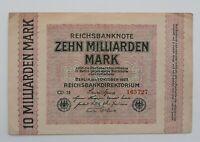 10 Milliarden Mark 1.10.1923, Ros.114 f, Erhaltung: II