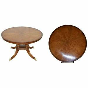 BRAND NEW CLUSTER POLLARD OAK  ROUND DINING TABLES SEATS FOUR TO SIX PEOPLE