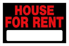 House For Rent Sign 8 X 12 Red Black With Blank Rental Rent Home Hillman 839934