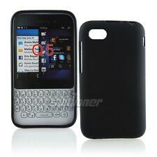Black TPU Matte Gel Case Cover Skin for BlackBerry Q5