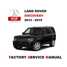 2013 2014 2015 LAND ROVER DISCOVERY 4 LR4 L319 REPAIR SERVICE WORKSHOP MANUAL
