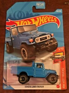 Hot Wheels Toyota Land Cruiser #202 HW Hot Trucks 3/10 Blue VHTF! 2021