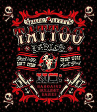 Shower Curtain Tattoo & Skull Sailor Bettys Bathroom Waterproof Polyester Fabric