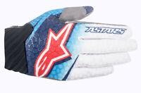 Alpinestars Techstar Venom Gloves Blue/White/Navy Motocross Mx Quad Atv Off Road