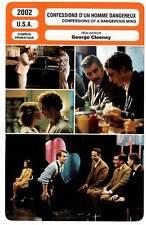 FICHE CINEMA : CONFESSIONS D'UN HOMME DANGEREUX - Barrymore,Clooney 2002