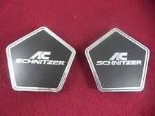 AC Schnitzer Chrome / Black Custom Wheel Center Cap # A823 (2 CAPS)