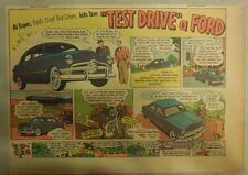 "Ford  Ad: ""Test Drive a Ford""  from 1950"