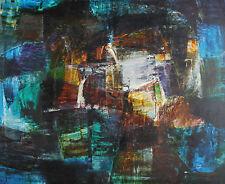 LUDWIK DUTKIEWICZ-Polish Expressionist-Large Original Signed Oil-Abstract