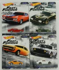 Fast and & Furious 1/4 Mile muscle Set 4 pcs GWB75 1:64 Hot Wheels