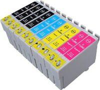 10 Non-OEM Ink Cartridges T1285 for Epson SX235w SX425w SX130 SX435w SX445w