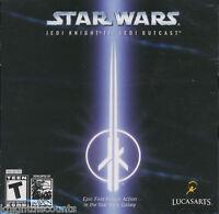 Star Wars JEDI KNIGHT II 2 JEDI OUTCAST - Lucas Arts Windows Shooter PC Game NEW